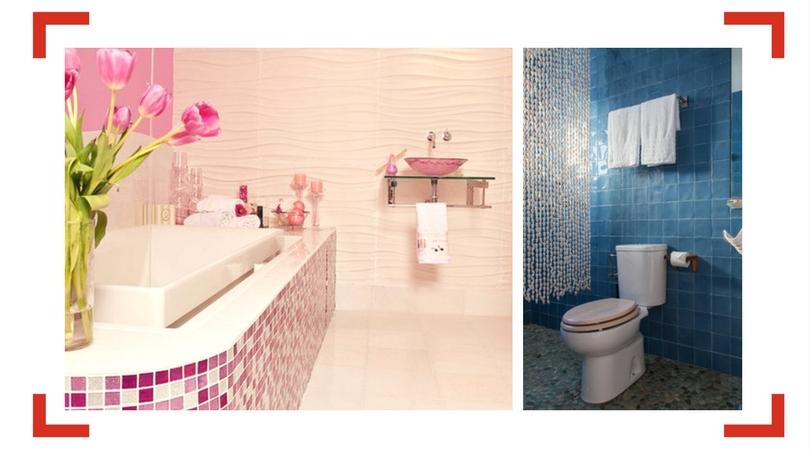 Reformas baños un solo color